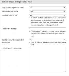 2 Methods display settings