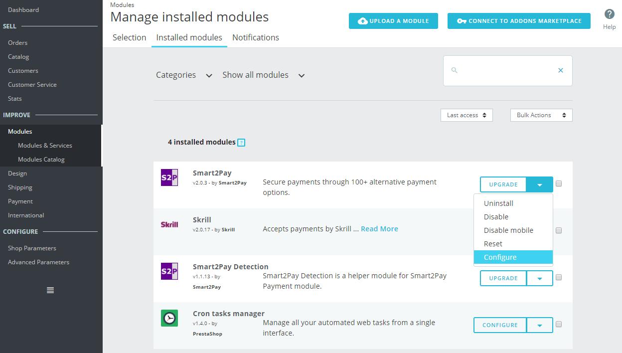 1 Configure Smart2Pay Module