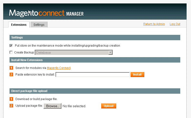 Image 2 - Magento Connect Manager