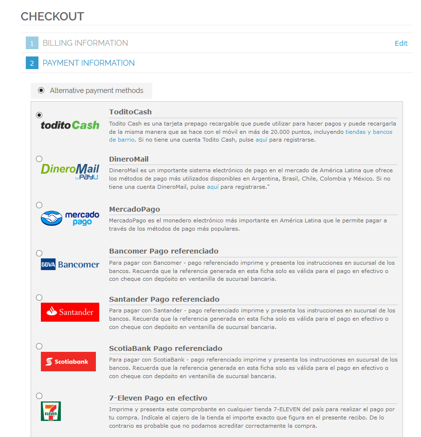 Image 5 - Checkout process - Payment information