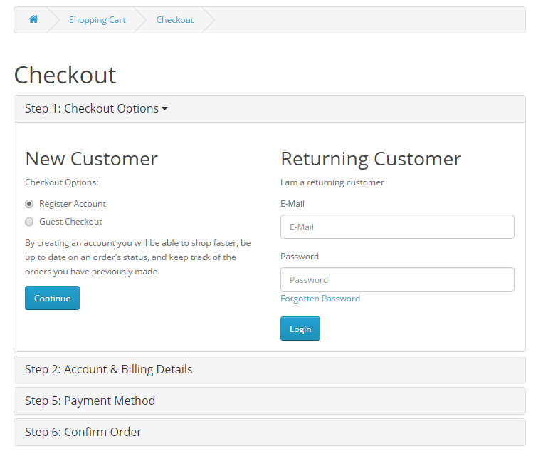 Image 6 - Customer's checkout options