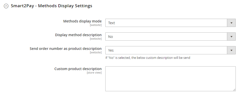 2 Methods display settings