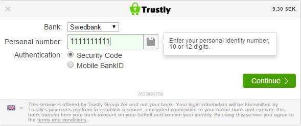 1 Enter login details
