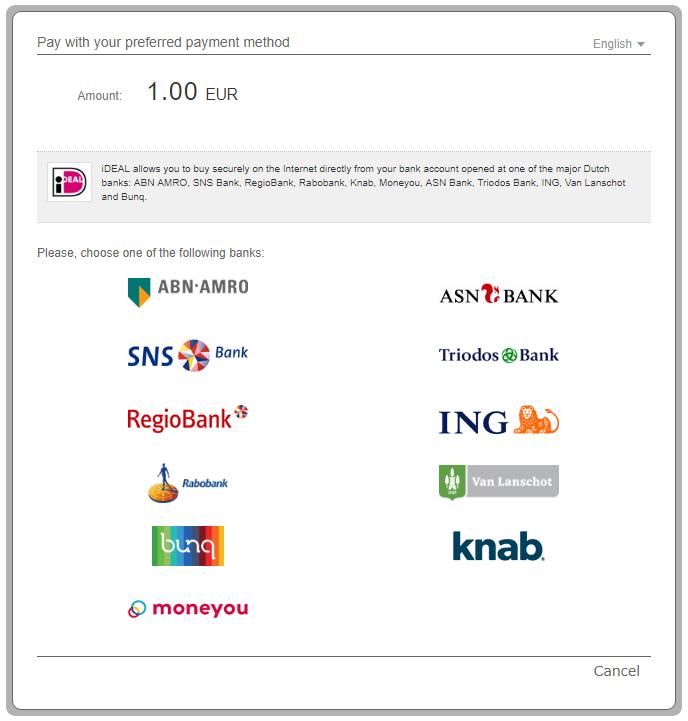 1 Bank selection