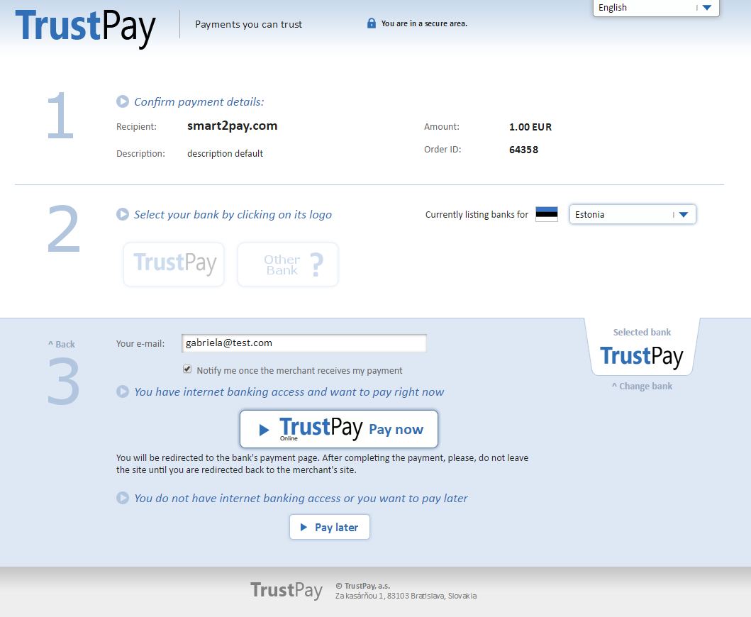 1 Pay transaction