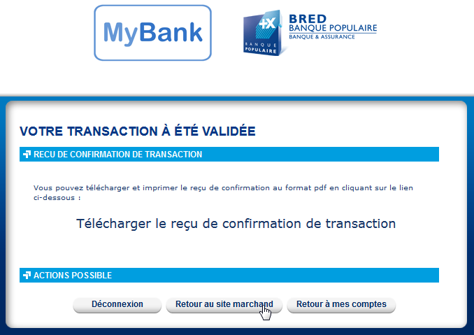 1 Payment confirmation received