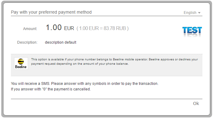 1 Payment confirmation