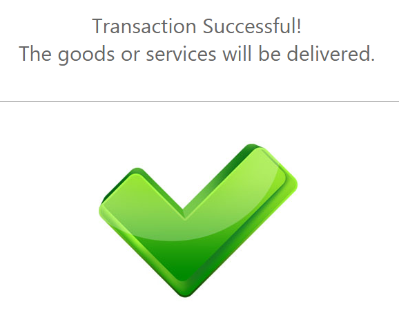1 Return page when the redirection status is a success