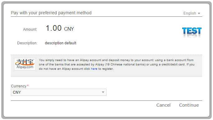 Alipay Test Data – Smart2Pay Documentation