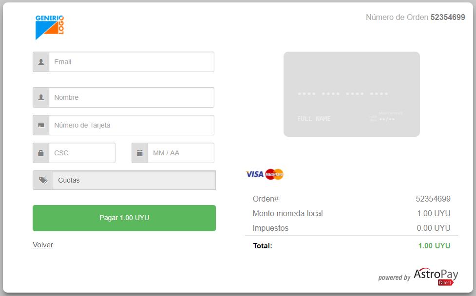 1 Enter card details