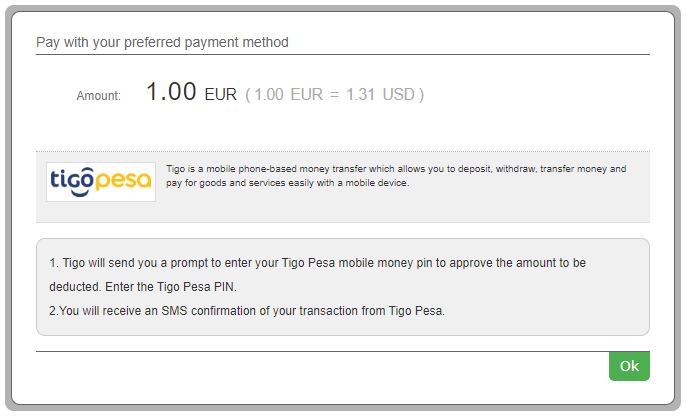 1 Payment instructions