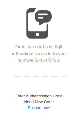 1 Enter Authentication Code