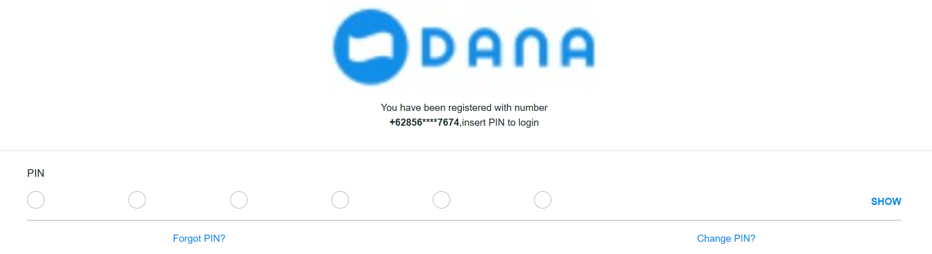 1 SMS 6 digit code