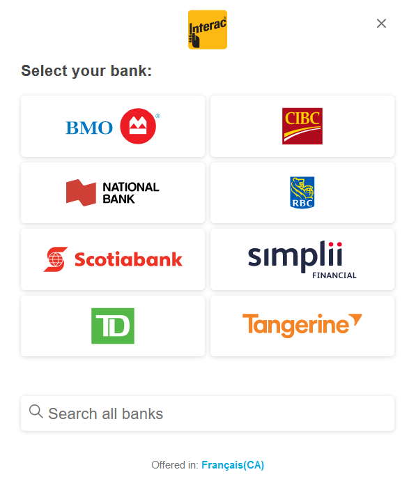 1 Select payment option
